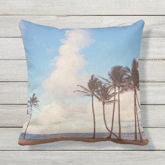 Kauai-Insel-Palmen-Wurfs-Kissen im Freien Kissen Für Draußen