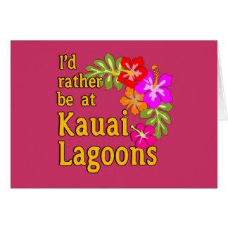 Kauai-Lagunen würde ich eher an Kauai-Lagune Grußkarte