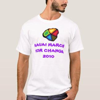 KAUAI-MÄRZ FÜR ÄNDERUNG 2010 T-Shirt