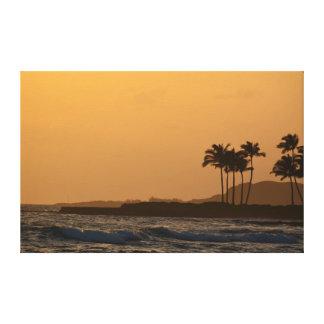 Kauai-Ozean-Sonnenuntergang Leinwanddruck
