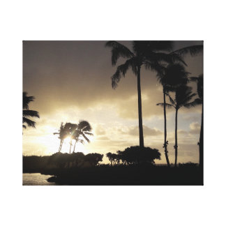 Kauai-Sonnenaufgang Leinwanddruck