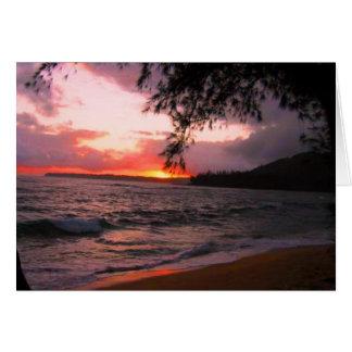Kauai-Sonnenuntergang Karte