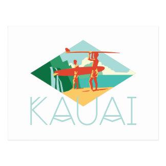 Kauai-Surfer Postkarte
