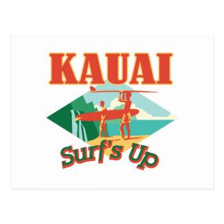 Kauai surft oben postkarte