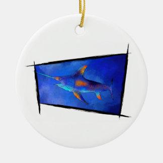 Kauderon V1 - Schöne Schwertfische Keramik Ornament