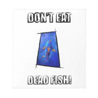 Kauderon V1 - Schöne Schwertfische mit Text Notizblock