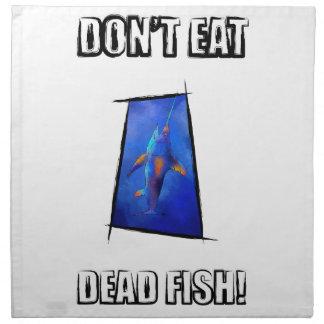 Kauderon V1 - Schöne Schwertfische mit Text Stoffserviette