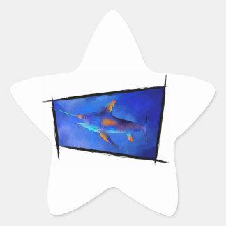 Kauderon V1 - Schöne Schwertfische Stern-Aufkleber