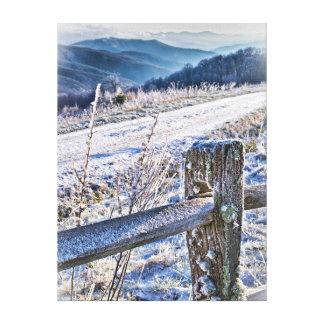 Kauf-Griff-Winter-landschaftliche Ansicht Gespannter Galerie Druck