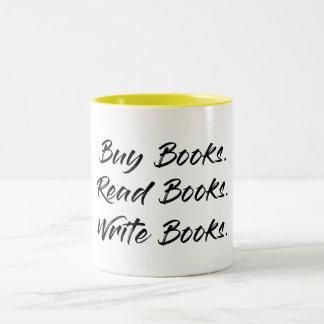 Kauf, schreiben, lasen Tasse
