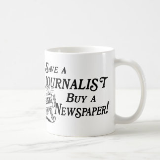 Kauf-Zeitung retten Journalist-Tasse