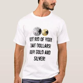 Kaufen Sie Gold und silbernes T-Shirt! T-Shirt