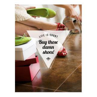 Kaufen Sie jene Schuhe! Inspirierend Postkarte