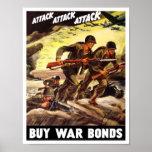 Kaufen Sie Kriegs-Bindungen -- Propaganda WW2 Posterdrucke