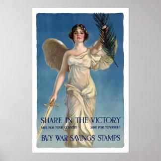 Kaufen Sie Kriegs-Sparungs-Briefmarken -- WW1 Poster