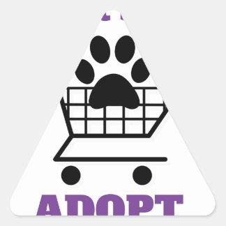 Kaufen Sie nicht adoptieren Dreieckiger Aufkleber