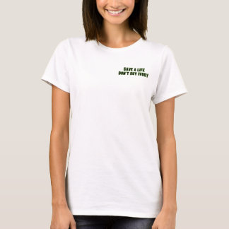 Kaufen Sie nicht Elfenbein, retten das Leben-Shirt T-Shirt