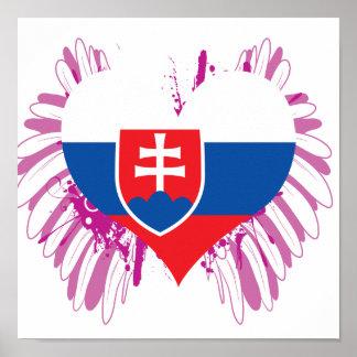 Kaufen Sie Slowakei-Flagge Poster
