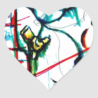 Kaugummi-Aufstand Herz-Aufkleber