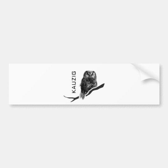 Kauz Eule Uhu käuzchen owl bird kauzig Autoaufkleber