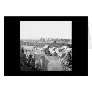 Kavallerie am Fort Burnham, VA 1864 Karte