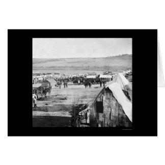 Kavallerie nahe dem Schlachtfeld am Fort Burnham Karte