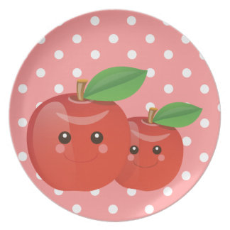 Kawaii Äpfel - Platte Teller