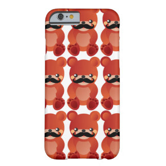 Kawaii Bär mit Schnurrbart-Spaß iPhone 6 Fall Barely There iPhone 6 Hülle