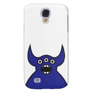 Kawaii blaues alien-Monster-Gesicht Galaxy S4 Hülle