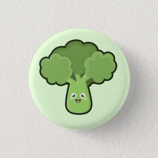 Kawaii Brokkoli Runder Button 2,5 Cm