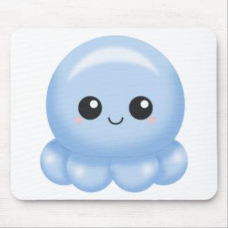 Kawaii Cartoon-Blau-Krake Mousepad
