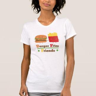 Kawaii Cartoon-Burger brät Freunde BESTE FREUNDIN T-Shirt
