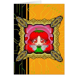 Kawaii Chibi Tomate-Fee Karte