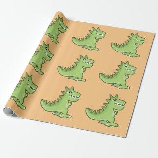 Kawaii Dinosaurier Geschenkpapier