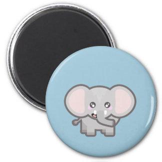 Kawaii Elefant Runder Magnet 5,7 Cm