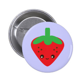 Kawaii Erdbeere Anstecknadelbuttons