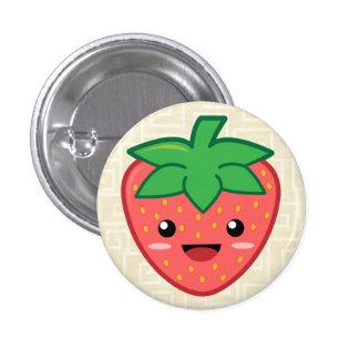Kawaii Erdbeere Runder Button 2,5 Cm