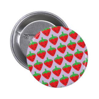 Kawaii Erdbeere Runder Button 5,1 Cm