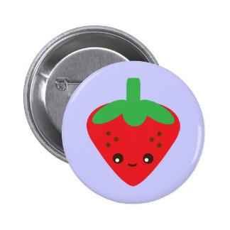 Kawaii Erdbeere Runder Button 5,7 Cm