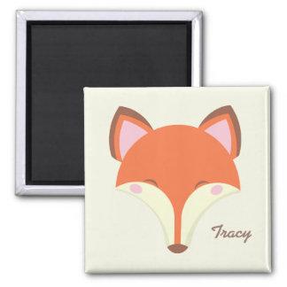 Kawaii Fox Quadratischer Magnet
