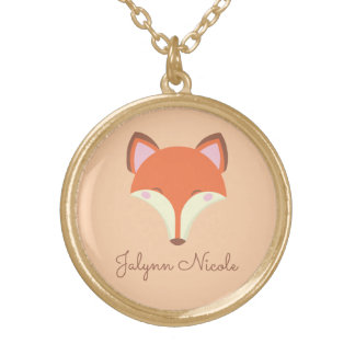 Kawaii Fox Vergoldete Kette