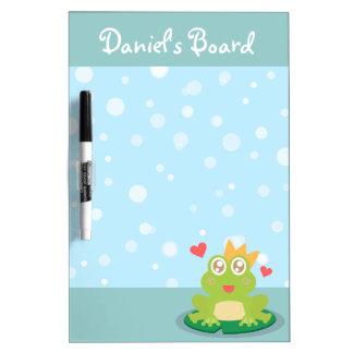 Kawaii Frosch mit dem Funkeln mustert auf einer Li Memo Boards