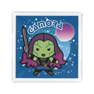 Kawaii Gamora im Raum Acryl Tablett