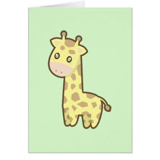 Kawaii Giraffe Karte