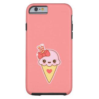 Kawaii glückliche ErdbeerEistüte Tough iPhone 6 Hülle