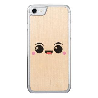 Kawaii glücklicher Anime gegenübergestellt Carved iPhone 8/7 Hülle