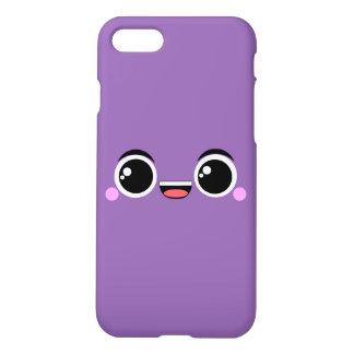 Kawaii glücklicher Anime stellte Lila gegenüber iPhone 8/7 Hülle