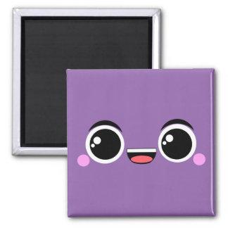 Kawaii glücklicher Anime stellte Lila gegenüber Quadratischer Magnet