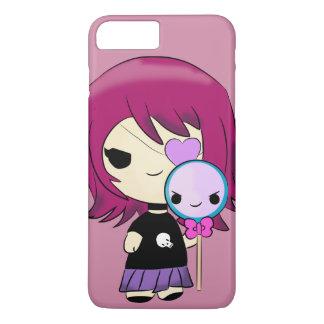 Kawaii gotischer Kasten des Telefons 6/6s Mädchens iPhone 8 Plus/7 Plus Hülle