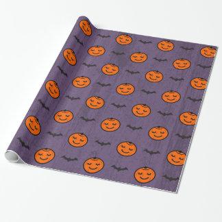 Kawaii Halloween Kürbis-Muster Geschenkpapier